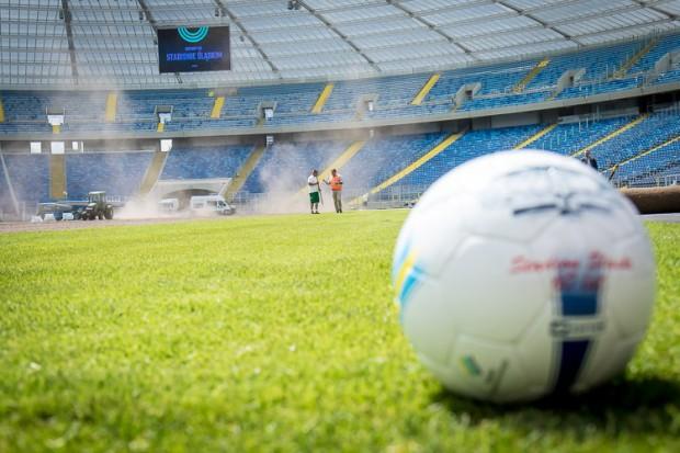 Nowa murawa i logo Stadionu Śląskiego