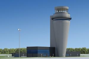 Budowa nowej wieży na katowickim lotnisku, najwyższego obiektu tego typu w Polsce, rozpoczęła się w marcu ub. roku. Fot. MIB