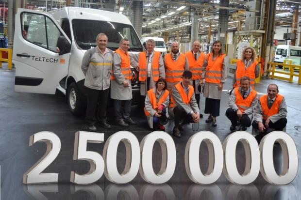 2,5 - milionowy egzemplarz Renault Master z fabryki w Batilly trafił do polskiej firmy