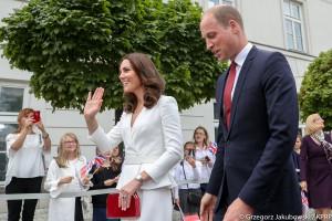 Brytyjska para książęca na spotkaniu z młodymi przedsiębiorcami