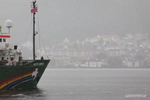 W Norwegii zatrzymano statek Greenpeace z aktywistami