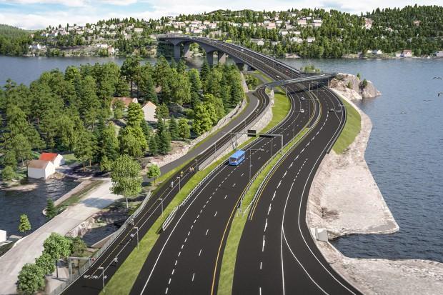 Vistal na budowie mostu w Norwegii