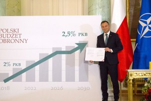 Prezydent podpisał ustawę zwiększającą wydatki obronne do 2,5 proc. PKB