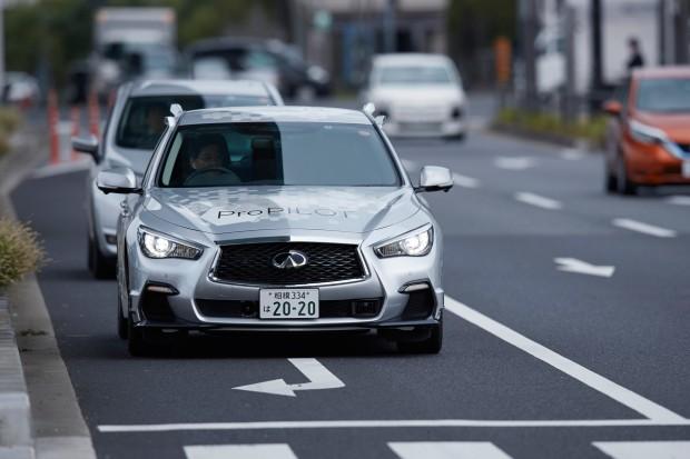Infiniti bez kierowcy na ulicach Tokio