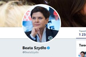 Beata Szydło podziękowała za krytykę na Twitterze