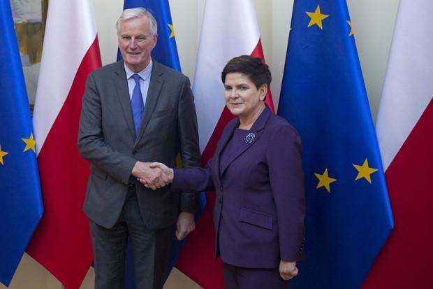 Premier spotkała się z głównym unijnym negocjatorem ws. Brexitu
