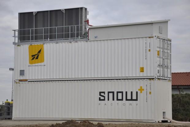 W Kurzętniku ruszyła największa w Europie fabryka śniegu