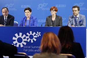 Beata Szydło: europejski filar spraw socjalnych to ramy polityki społecznej UE