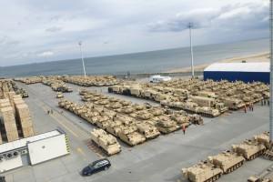 Amerykański sprzęt wojskowy w gdańskim porcie