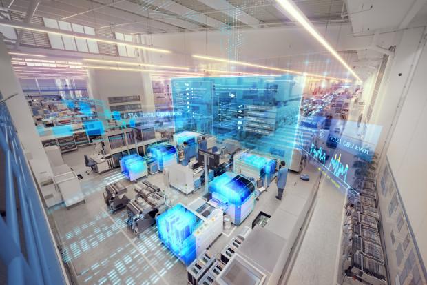 Digital Twin - cyfrowy bliźniak - wirtualnie testuje działanie fabryki