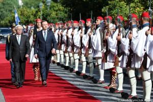 Prezydent Duda rozmawiał z greckimi przywódcami o reparacjach od Niemiec