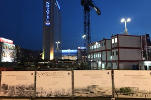 Prace przy budowie nowej Rotundy w Warszawie.