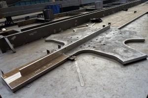 Wytwarzanie elementów konstrukcji nowej Rotundy w Hucie Pokój.