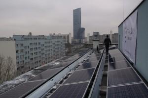 Elektrownia słoneczna na wrocławskich wieżowcach