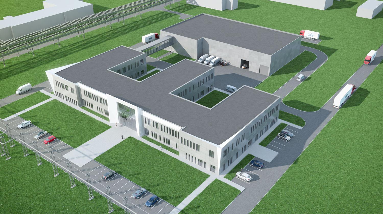 Oprócz badań w powstającym centrum będzie dobywała się również produkcja Fot. mat. Grupa Azoty
