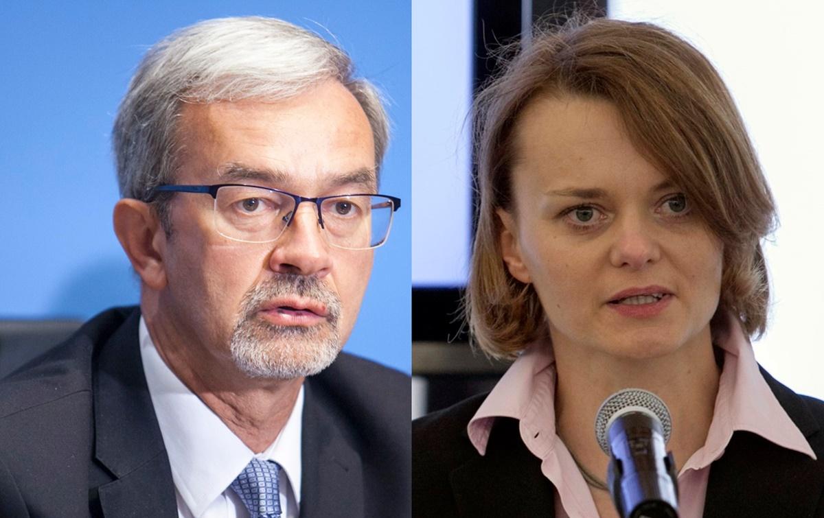 Jerzy Kwieciński i Jadwiga Emilewicz Fot. PTWP