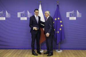 """Morawiecki z Junckerem m.in. o Nord Stream-2 i pracownikach delegowanych. """"Chemia spotkania była naprawdę dobra"""""""