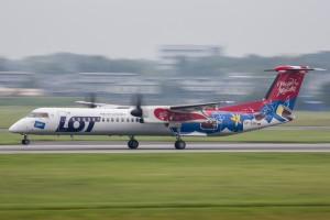 Awaryjne lądowanie samolotu PLL LOT