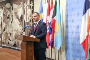 Andrzej Duda: oficjalnie otwarliśmy polską obecność w RB ONZ