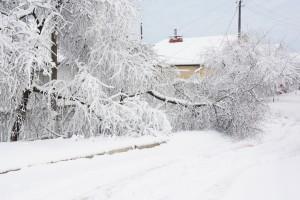Opady śniegu spowodowały korek na 10 kilometrów