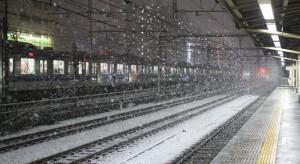 Cienka warstwa śniegu spowodowała chaos na ulicach i kolei