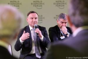 Andrzej Duda rozmawiał w Davos m.in. z prezesem Googla i szefem Vodafone