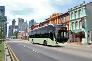Szybkie ładowarki z ABB dla autonomicznych autobusów w Singapurze