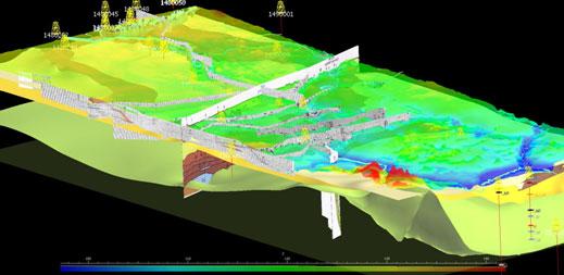 Mapa 3D dla na Kanału Augustowskiego. Fot. mat. PIGPIB