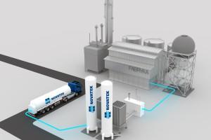 Schemat stacji regazyfikacji LNG