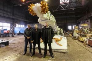"""Na przyjęcie zlecenia do naszego przedsiębiorstwa przyjechali przedstawiciele kopalni """"Beloziorskoja""""."""