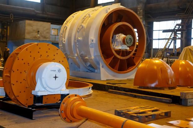 Wentylator Corum w górniczym kombinacie na Ukrainie