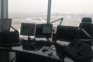 Taki widok roztacza się z nowej wieży kontroli lotów w Krakowie (Fot. PAŻP)