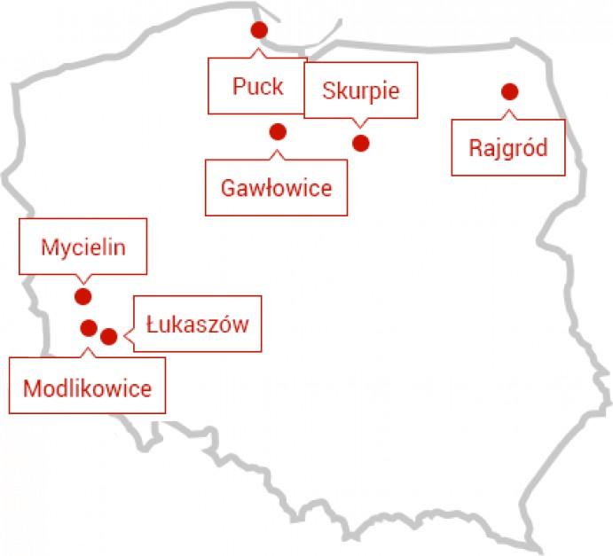 Działające farmy wiatrowy grupy Polenergia. Fot. Polenergia