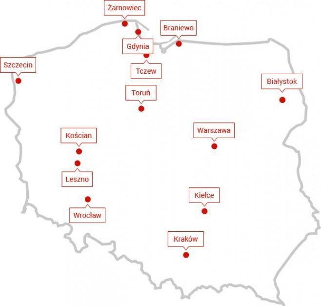 Obszary działalności Polenergia Dystrybucja. Fot. Polenergia