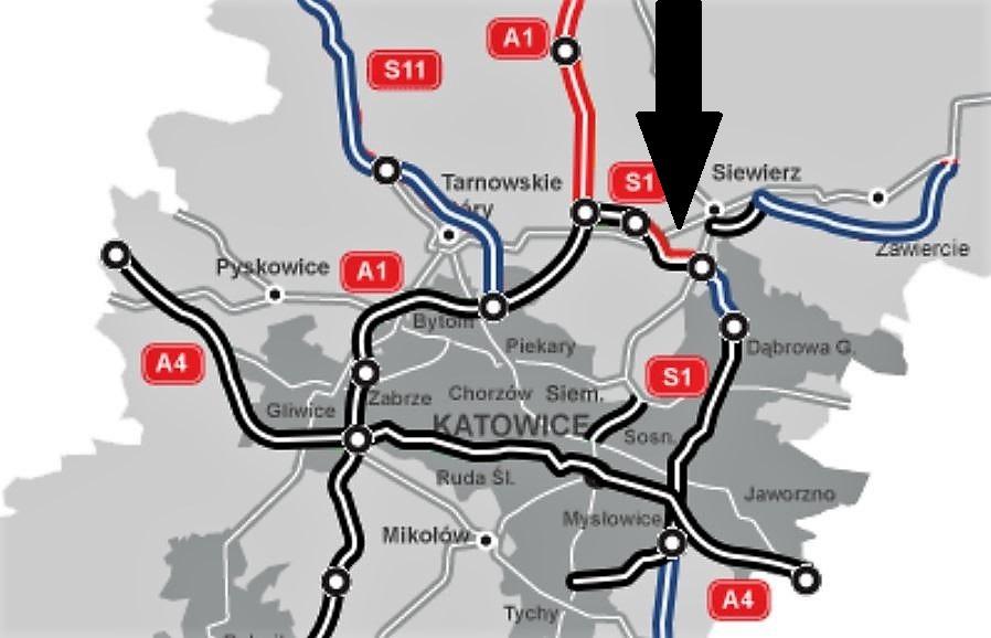 Planowana druga jezdnia drogi S1 Pyrzowice - Podwarpie. Fot. GDDKiA