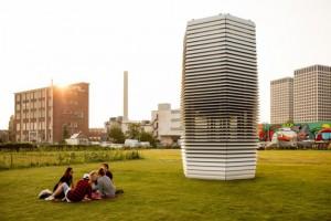 W Krakowie stanął największy na świecie oczyszczacz powietrza