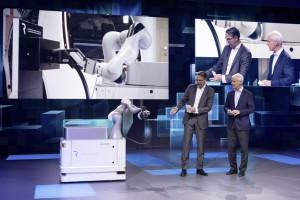 Robot naładuje elektryczne auto