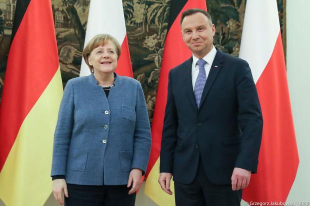 Nord Stream 2 tematem rozmowy Andrzeja Dudy z Angelą Merkel