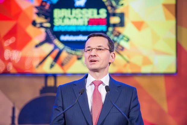 Premier Morawiecki w Brukseli o integracji energetycznej UE