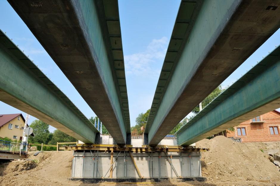 Konstrukcja mostu kompozytowego w Błażowej. fot. Mostostal Warszawa