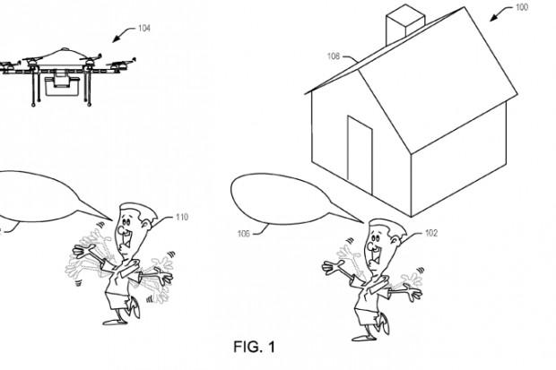 Amazon patentuje drona, który reaguje na krzyki i machanie