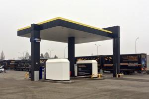 Sieć stacji dla ciężarówek z nową lokalizacją