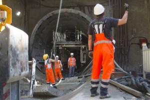 16 maja 2012 r.  uruchomiona została pierwsza z czterech tarcz drążących centralny odcinek II linii metra. (Fot. PTWP/Paweł Pawłowski).