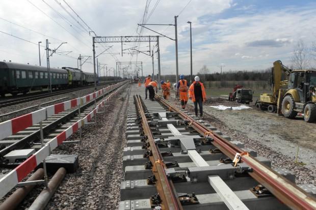 PKP PLK zamontowały nowoczesny rozjazd na Centralnej Magistrali Kolejowej