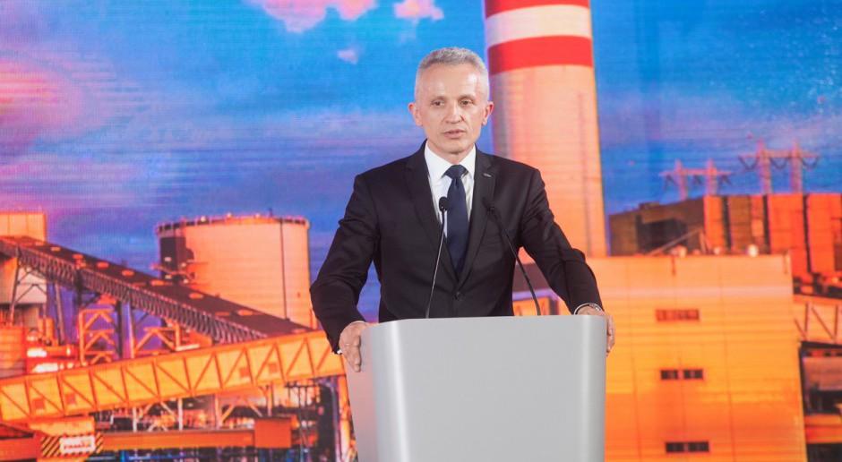 Krzysztof Figat podczas uroczystego oddania do użytku nowego bloku w Elektrowni Kozienice. fot. PTWP (Paweł Pawłowski).