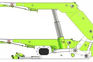 2. Obudowa zmechanizowana typu FRS-1234-2x3378-1 (pomiar maksymalnej i minimalnej wysokości obudów oraz określenie wymiarów przejścia dla załogi)