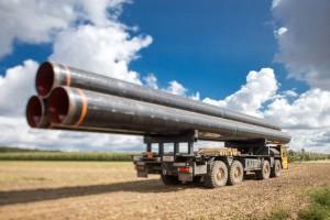 Rury do gazociągu na Litwę wybrane