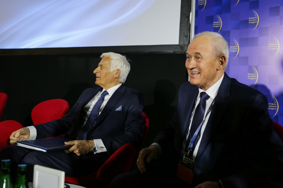 Europoseł Jerzy Buzek i minister energii Krzysztof Tchórzewski (fot. PTWP)