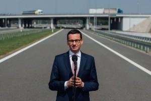 Mateusz Morawiecki otworzył obwodnicę trzy miesiące przed terminem