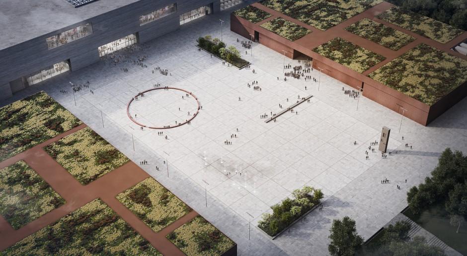 W lewym górnym rogu zdjęcia planowanego Muzeum Historii Polski. fot. WXCA